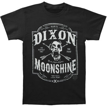 Walking Dead Men's  Dixon Moonshine T-shirt Black Rockabilia