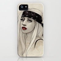 New York Woman born to run you down iPhone & iPod Case by Helen Green