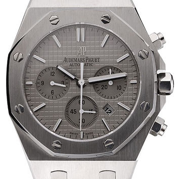 Swiss Audemars Piguet Royal Oak Chronograph Grey Dial Stainless Steel Case And Bracelet 622869