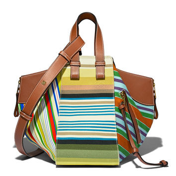 Loewe Striped Hammock Bag - ShopBAZAAR