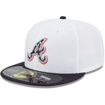 Atlanta Braves 2013 Authentic Collection Stars & Stripes Diamond Era 59FIFTY On-Field Game Cap