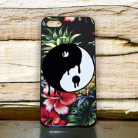 FLower Logo Yin Yang iPhone Case Cover 4,5,6,6+ Samsung S3,S4,S5,S6 iPod 4 5