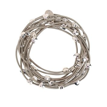 Bee Charming Jewelry Piano Wire Bracelet Set with Hearts -