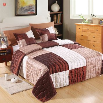 Bedding set bed cover set quilt summer comforter blanket queen bedding 3pcs(one quilt +two pillowcases) bedspread home textile