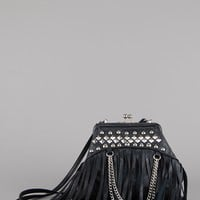 Stud Me Up Studded Leather Crossbody Bag
