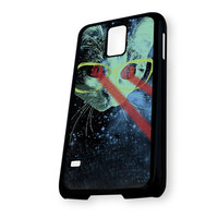 Kitty Lasers Cat Glasses Kitten Hipster Space Galaxy Samsung Galaxy S5 Case