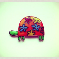 Free shipping Brooch - animal brooch-colored turtle