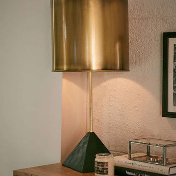 Pele Pyramid Stone Table Lamp - Urban Outfitters