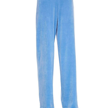 Solid Velour Pants,