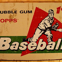 TOPPS - 1958 Baseball Cards Metal Tin Sign , 16x12