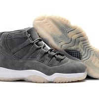 Air Jordan Retro 11 Suede Men Basketball Shoes 11s Gray Suede Sports Sneakers High Quality With Shoes Box