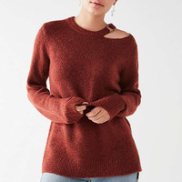 UO Lizzie O-Ring Cut-Out Sweater | Urban Outfitters