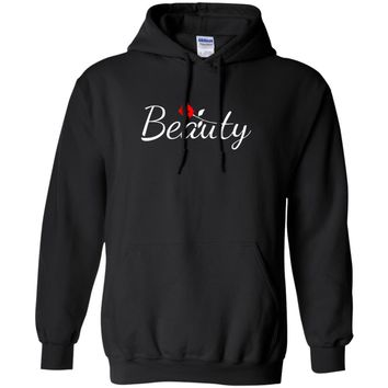 Beauty and Beast Matching Couples Pullover Hoodie Sweatshirt, Unisex, S-5XL, Black