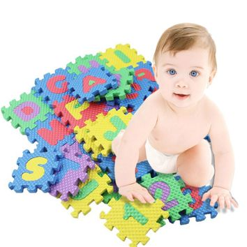 36pcs/Set Baby Play Mats Alphabet Numerals Baby Kids Play Mat Math Educational Puzzles Toy Child Soft Foam Mini Gaming Mats Gift