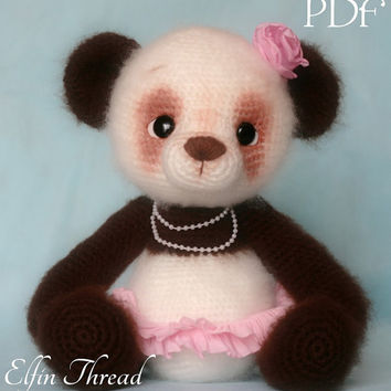 Elfin Thread - Panda Bear Amigurumi PDF Pattern ( Crochet Panda Bear pattern)