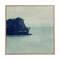 Deny Designs Adventure Is Calling Framed Wall Art Blue Combo One Size For Women 23685924901