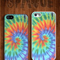 Tie Dye Bright Design Apple iPhone 5 5s & 4 4s Durable Hard Case - In Multiple Colours - Hipster Indie Grunge Vintage Tropical Summer Tumblr