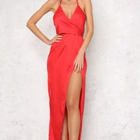 Grand Palace Maxi Dress Red