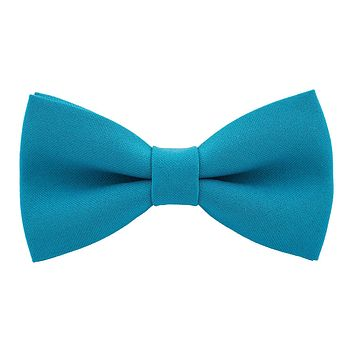 Avalon Teal Bow Tie