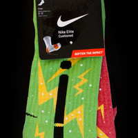 Thesockgame.com — A KD Christmas Elites - Custom Nike Elite Socks - Inspired by Nike KD4 shoes