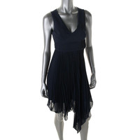 Max and Cleo Womens Nina Asymmetric Open Back Cocktail Dress