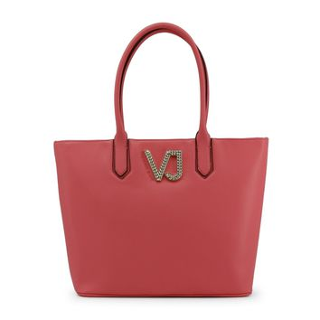 Versace Pink Leather Shopping Bag