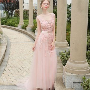 LMFIH3 New bridesmaid sisters group summer bride toast service was thin banquet evening dress simple long dress