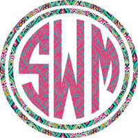"5"" Monogram Car Decal"