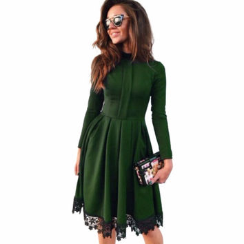 2016 Autumn Winter New Fashion Women Sexy Long Sleeve Slim Maxi Dresses Green Party Dresses Hot Plus Size