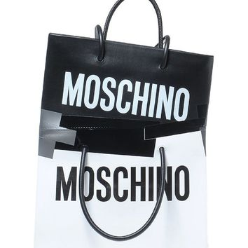 Moschino Double Tape Leather Shopper | Nordstrom