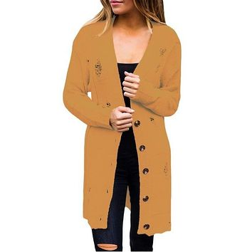 Dana Distressed Duster Cardigan