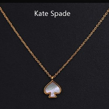 Kate Spade New fashion love heart necklace women Golden