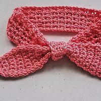 Crochet Baby Bow Knot Headband 0-6 months Handmade Hair Accessories