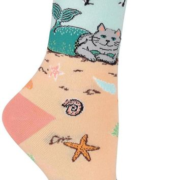 Mermaid Cat Women's Crew Socks