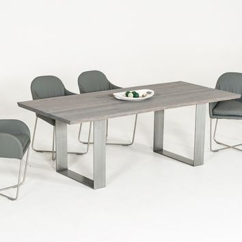 Modrest Murphy Modern Grey Aged Oak Dining Table