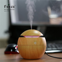 FEA Essential Oil Diffuser 130ML LED Ultrasonic Cool Mist Aroma Air Humidifier USB Air Purifier for Office Home Bedroom Living