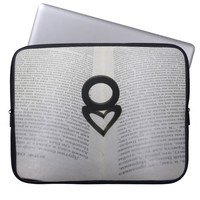 Love Ring and Shadow Heart Laptop Sleeve