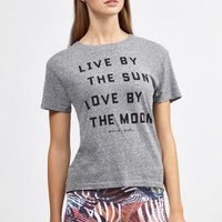Live By The Sun Gym Tee in Heather Grey by Spiritual Gangster | Tops | BANDIER