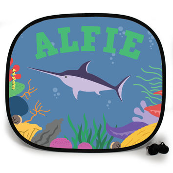 Ani-Mates Under The Sea Swordfish Personalised UV Protection Car Sunshade
