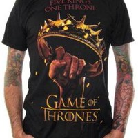 ROCKWORLDEAST - Game Of Thrones, T-Shirt, Five Kings One Throne