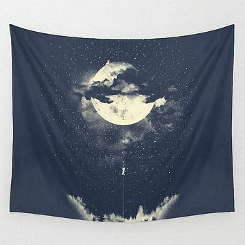 The moon wall hanging tapestry Night film props backdrop decorative polyester wall blanket tapestry