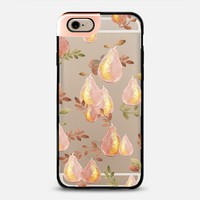 Copper Pears (transparent) Metaluxe iPhone 6 case by Lisa Argyropoulos | Casetify