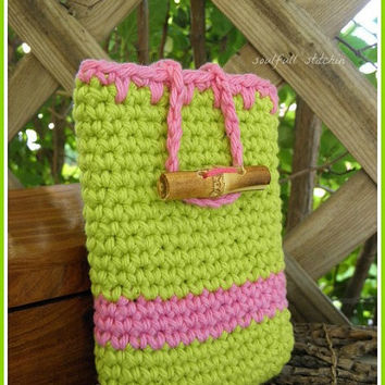 iPod Pouch iPhone Pouch Cell phone Cozy Smartphone Cozy Crochet Electronic Sleeve