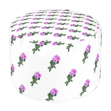 Purple Flower Pouf
