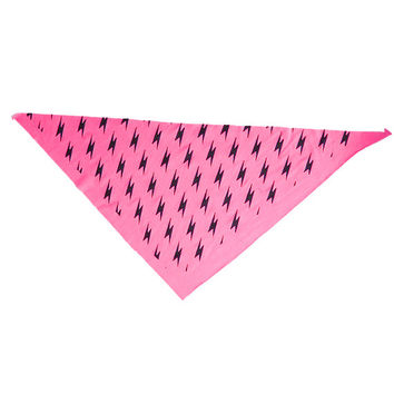 Small Fry Dog Bandana - Lightning Bolts (Hot Pink)