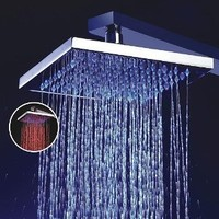 LightInTheBox 8 Inch Single Function Temperature Sensitive Rainfall LED Shower Head, Chrome:Amazon:Home Improvement