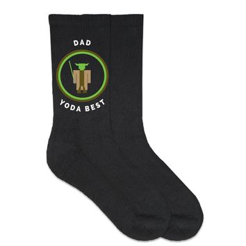 Dad Yoda Best - Father's Day - Crew Socks - Made To Order