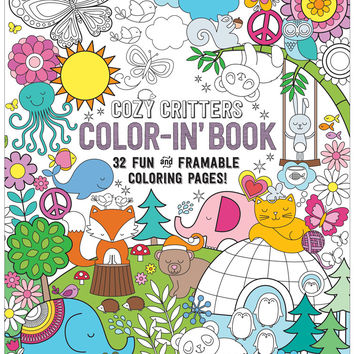 International Arrivals Color-in' Cozy Critters Book