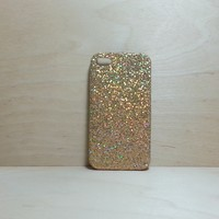 For Apple iPhone 4 / 4s Gold Glitter Case