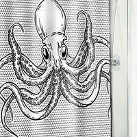 Swimming Octopus Shower Curtain